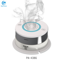 Free Shipping GSM/GPRS Network Alarm Wireless Smoke Detector Fire Sensitive Home Security Sensor Equipment