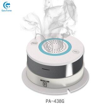 Free Shipping GSM/GPRS Network Alarm Wireless Smoke Detector Fire Smoke Sensitive Detector Home Security Sensor Fire Equipment