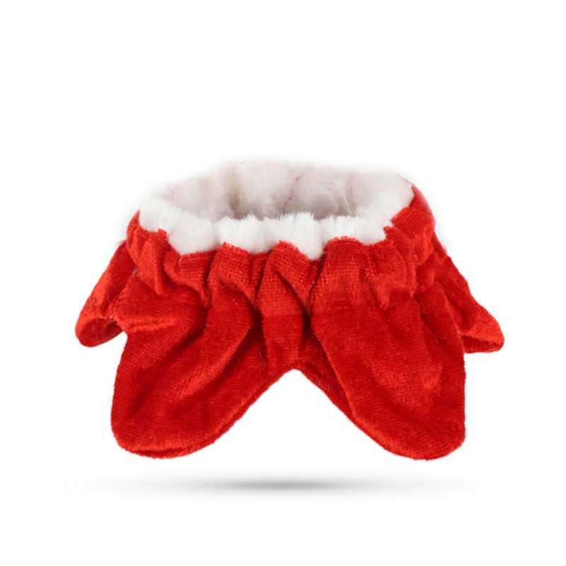 Et لطيف عيد الميلاد زي كيب الكلاب القطط أفخم الدانتيل سانتا كلوز عباءة مع قبعة الأحمر قابل للتعديل وشاح مريلة للقطط
