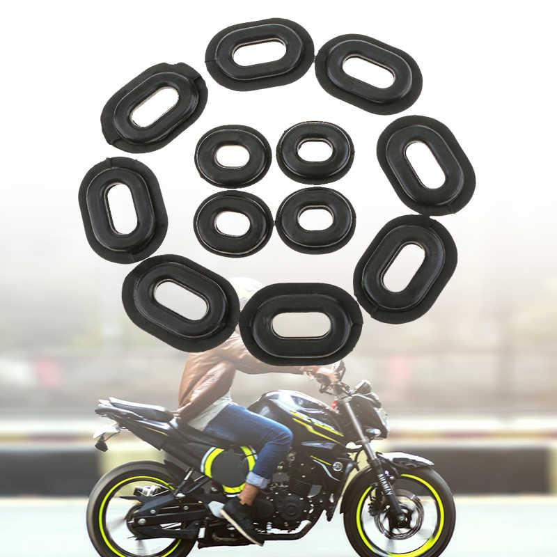 12 個オートバイのサイドカバーゴムグロメットガスケットフェアリングホンダ Cb CL XL 100 CG125 CB125S/125 T オートバイアクセサリー