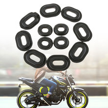 12 Pcs Motorcycle Side Cover Rubber Grommets Gasket Fairings For Honda CB CL XL 100 CG125 CB125S/125T Motorcycle Accessories
