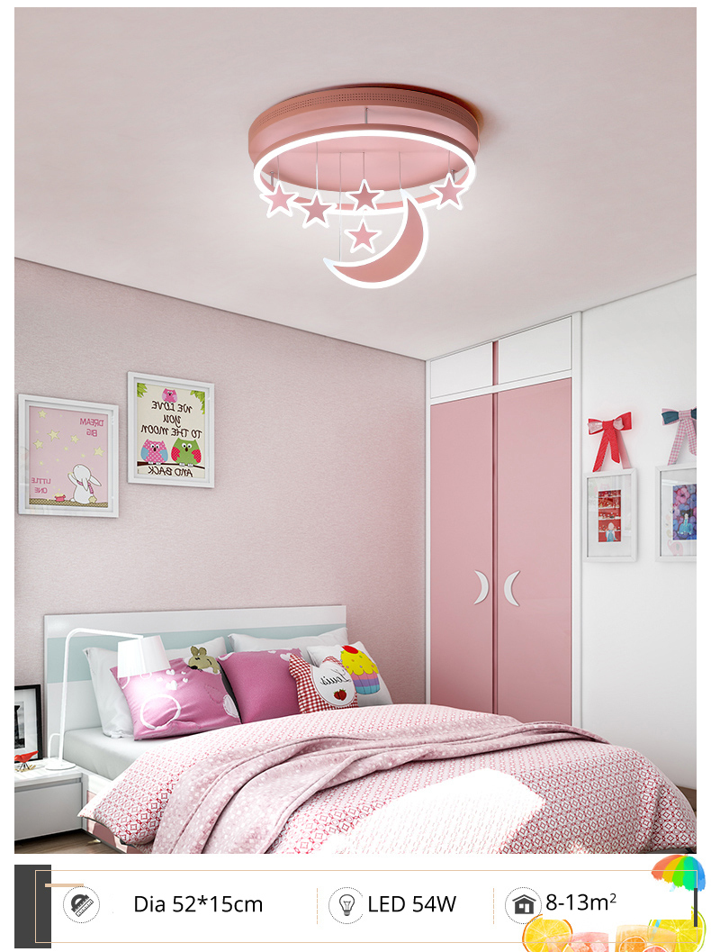 H7d16b9c8609542b1bec5127d87e4145bW Wall Mounted Lights | Surface Mount LED Lights | New Ceiling Lights Girl Children Room Bedroom Modern LED Lighting Surface Mount Remote Control Indoor Lamp Lampara Techo 001