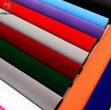 20/40x150cm auto-adesivo veludo rebanho forro jóias contato papel artesanato tecido adesivo multicolorido