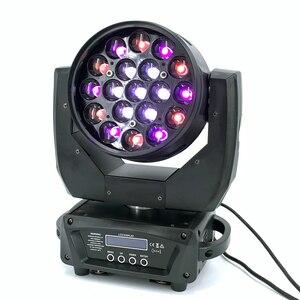 19x15 Вт Светодиодный светильник с зумом, управляемый круговым светом, движущаяся головка RGBW 4in1beam, Профессиональный DJ/бар, светодиодный светильник для сцены DMX512, dj светильник s