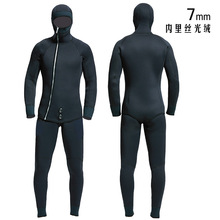 HQ 7mm wetsuits men spearfishing suit diving suit wetsuit Fishing and hunting Warm clothing Smooth leather waterproof waterproof