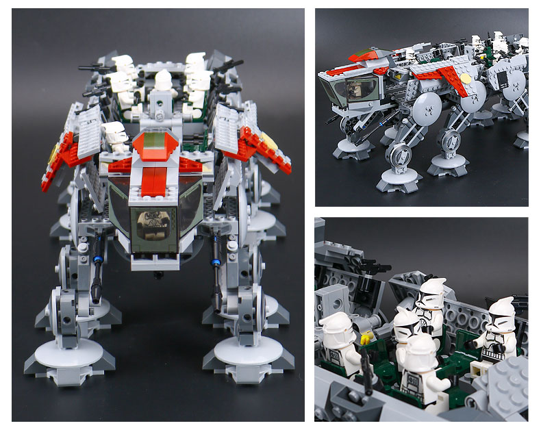 DHL 05053 Star Series Wars the Republic Drop-ship with AT-OT Walker Building Blocks Toy compatible LegoINGlys 10195 11