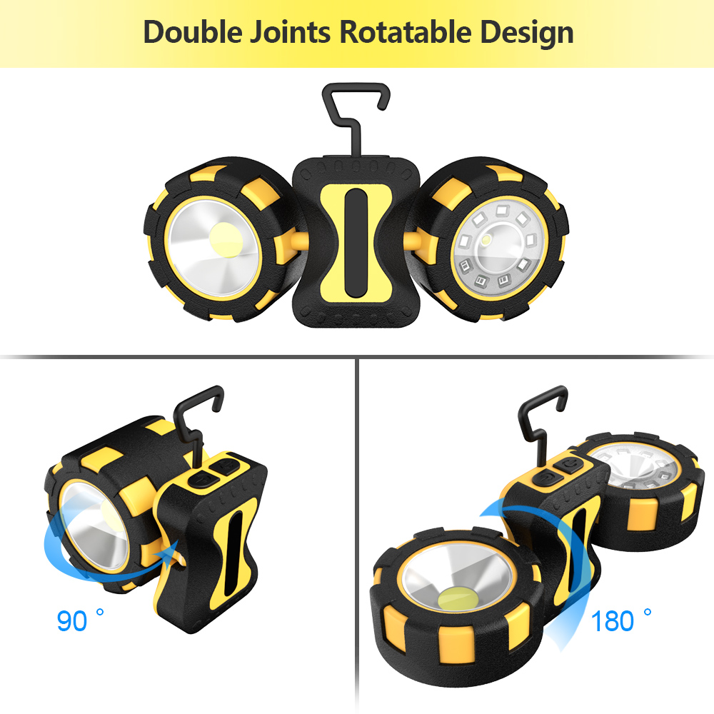 Portable LED Searchlight 8 Modes Spotlight Waterproof Led Work Light Use 6*AAA Battery USB Rechargeable For Hunting Camping