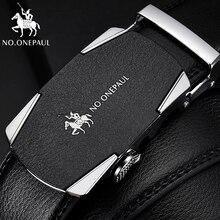 NO.ONEPAUL men belts cowhide Luxury brand jeans waist belt B