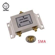 ZQTMAX – répartiteur d'alimentation 2 voies SMA 380mhz ~ 2500MHz pour répéteur de Signal GSM UMTS WCDMA CDMA 2G 3G 4G lte