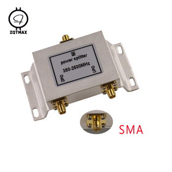 ZQTMAX 2 Way SMA Power Splitter 380mhz~2500MHz for GSM UMTS WCDMA CDMA 2G 3G 4G lte Signal Booster Repeater