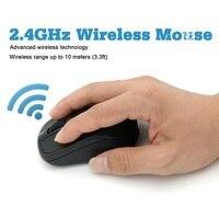 Usb sem fio mouse gaming mouse 2000 dpi receptor ajustável computador óptico mouse 2.4 ghz ergonômico ratos para computador portátil pc mouse