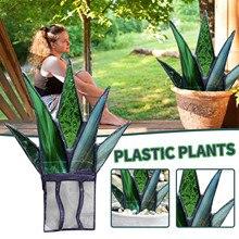 Мини-красочные и искусственное алоэ в горшке горшок для растений горшечные растения Украшение