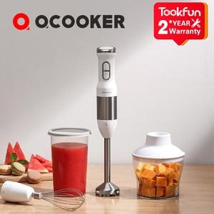 Image 1 - QCOOKER CD HB01 ручной блендер с электрической чашкой, кухонный портативный кухонный комбайн, миксер, соковыжималка, овощи, готовка, многофункциональный быстрый