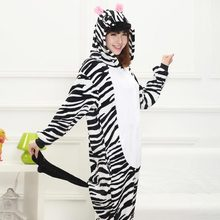 Animal Kigurumi Zebra Onesie Pajama Women Girl Home Jumpsuit Funny Suit Winter Warm Sleepwear Halloween Party performance Outfit