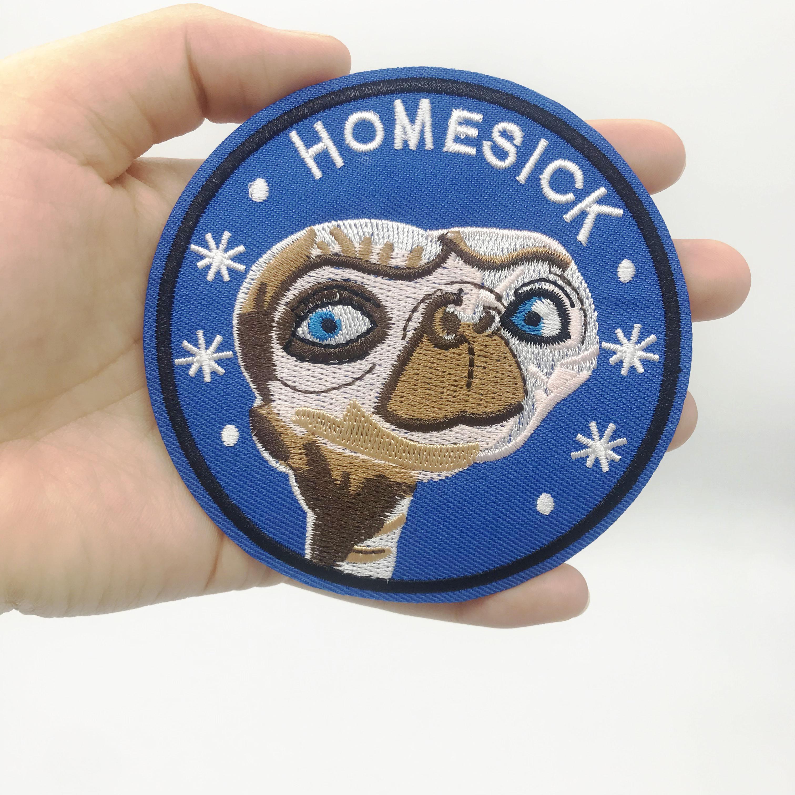 Купить с кэшбэком Embroidered Patch Badge Alien HomeSick sewing Iron on clothes badge collection badge