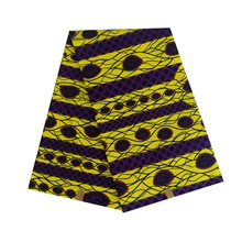 cotton African wax 100% cotton veritable dutch Printed in fabric block wax ankara 6yards hot sale for african woman V-L 661 цена