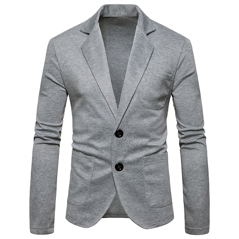 MEN'S WEAR 2018 Spring Clothing New Style Suit Ouma Solid Color Casual 2-Button Single-Row Slim Fit Men's Small Suit