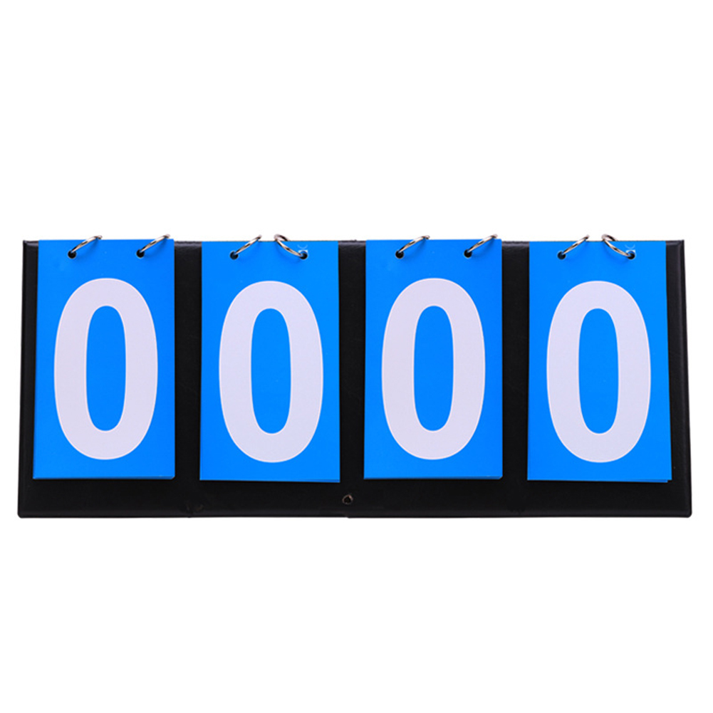 Manual 4 Digit Foldable Badminton Team Sport Count Down Double-sided Flip Scoreboard Basketball Portable Ring Competitions