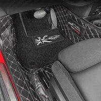 Car Leather Floor Mats Logo Protection pad For BMW MINI Cooper F54 F55 F56 F60 R55 R56 R60 Car carpets mat accessories interior