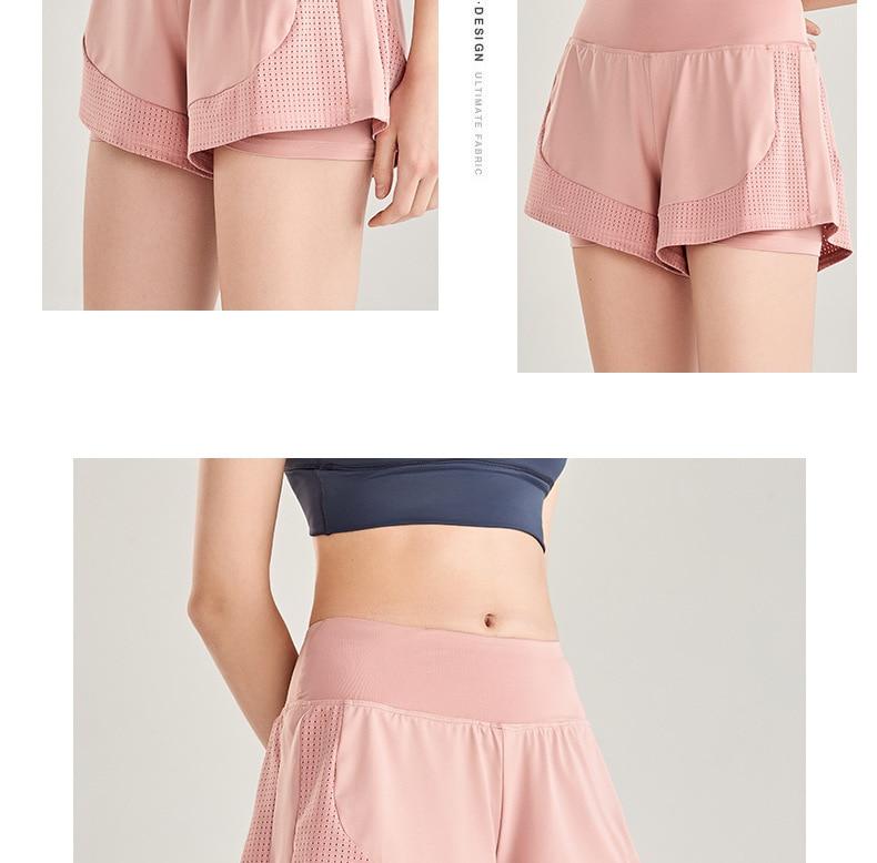 Shorts Women Workout Shorts High Waisted Running Shorts Double Layer Quick-drying Athletic Yoga Shorts Fitness Shorts (11)