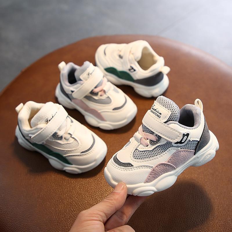 2020 nova unisex da crianca tenis infantil do bebe sapatos casuais bebe primeiros caminhantes moda retalhos