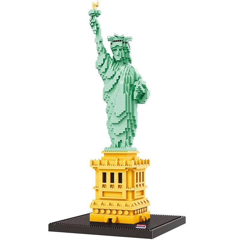 2510 pièces 16091 Statue de liberté modèle diamant blocs de construction petites particules assembler jouet pour enfants cadeau B
