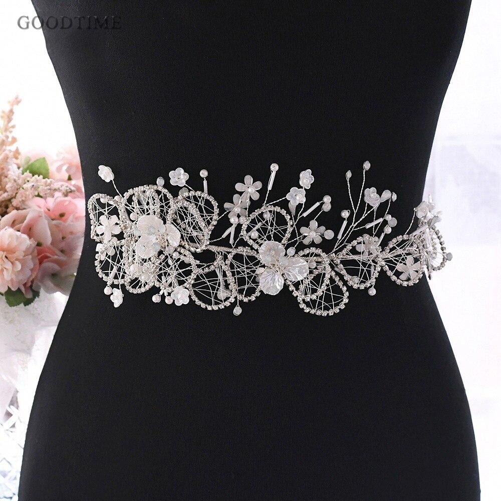 Women Belt For Wedding Bridal  Luxury Flower Beautiful Decals Wedding Dress Belt Accessories For Girl Party Dress Decoration