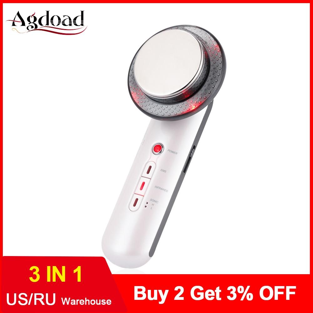 Face Lifting 3 in 1 Ultrasonic EMS Cavitation Body Slimming Machine Face Beauty Machine Ultrasound Body Massager Device Fat Burn