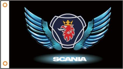 Автомобильный флаг, индивидуальный флаг scania, баннер 3x5 футов, 100% полиэстер, 102