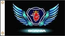 Bandeira do carro bandeira personalizada scania banner 3x5ft 100% poliéster 102