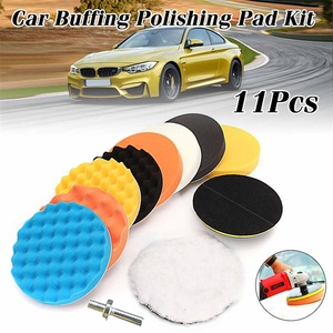 11pcs 7 inch/6inch/5inch Polishing Waxing Buffing 8 Sponge Pads Set + M14 Thread For Car Polisher Compound Polishing