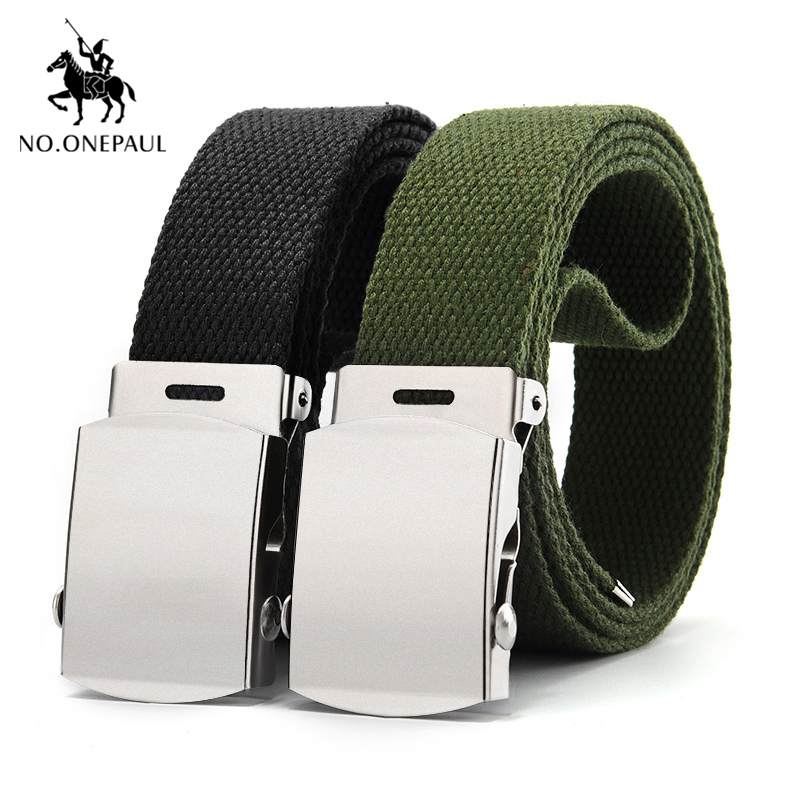 NO.ONEPAUL Men's adjustable military new tactical   belt   outdoor sports durable high quality men's fashion   belts   free shipping