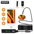 KERUI wifi эндоскоп камера Мини водонепроницаемый мягкий кабель Инспекционная камера 8 мм 1 м USB эндоскоп бороскоп IOS эндоскоп для Iphone
