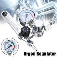 Schweißen Gas Meter Argon CO2 Druck Fluss Regler MIG MAG Schweiß Gauge Argon Regler Druck Minderer