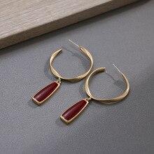 retro design drop oil red  jewelry drop earrings  indian korean trendy earrings for women bohemian earrings цена в Москве и Питере