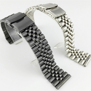 Image 2 - Silk Glossy Stainless Steel watchband 18mm 20mm 22mm 23mm 24mm 26mm Watch Band Double Lock Buckle Replacement Watch Strap w Tool