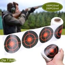100/250 шт/РОЛ съемки клейкие Цели Брызги реактивный мишени Стикеры 7,5 см для y лук Охота стрельба