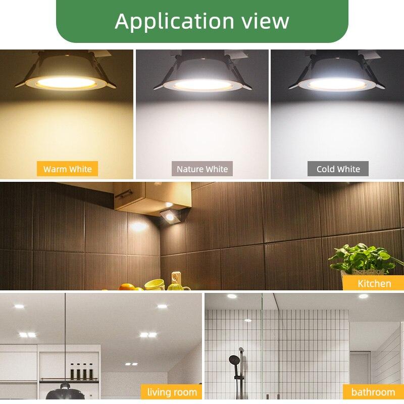 Image 5 - Kaguyahime 1/4pcs Downlight 3000k 4500K 6000K LED Spot Light 5w Indoor Recessed Lamp AC 220V LED Spotlight Gold Silver SurfaceLED Downlights   -
