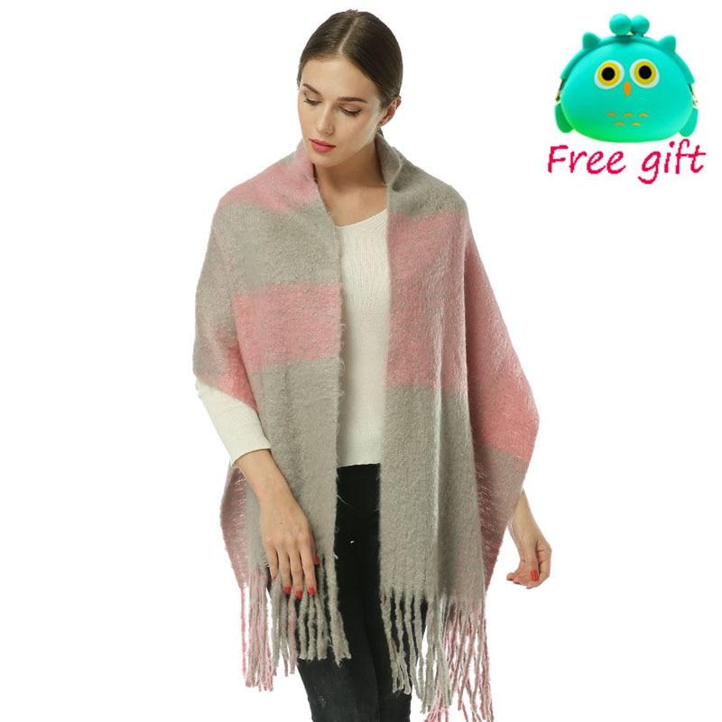 YILIAN Brand tykt vinter tørklæde kvinder med kvaster Meget varm - Beklædningstilbehør