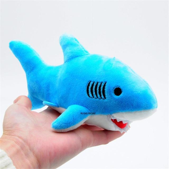 3Colors - Shark Plush , Ocean toy , 2sizes, 10cm and 18cm Plush Stuffed Toy Doll , Keychain Shark