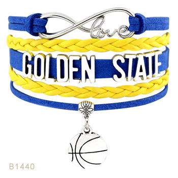 Golden State Florida Michigan Minnesota Texas Ohio New York Illinois Georgia Tennessee North Carolina State Mens Bracelets image