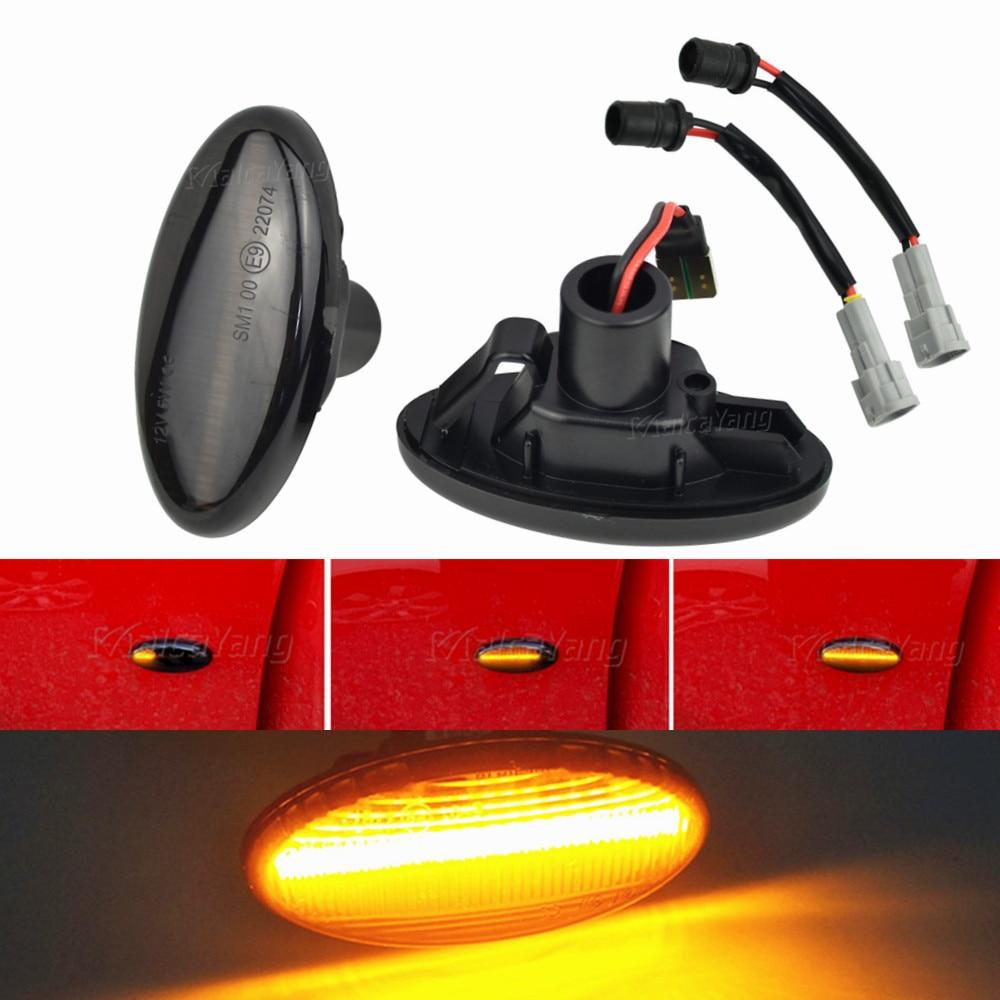 2 Pieces LED Dynamic Turn Signal Side Marker Light Sequential Blinker Light For Mazda 2 For Mazda 3 5 6 BT-50 MPV