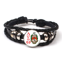 цены 2019New Greek Fellowship Organization Delta Sigma Theta Symbol Bracelet Glass Photo Cabochon Glamour Jewelry Men's Gift Popular