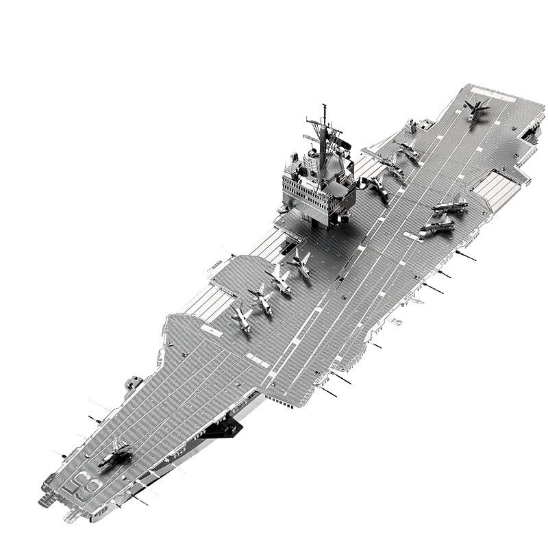 MMZ MODEL Piececool 3D Metal Puzzle USS ENTERPRISE CVN-65 DIY Assemble Model Kits Laser Cut Jigsaw Building Toys Gift For Adults