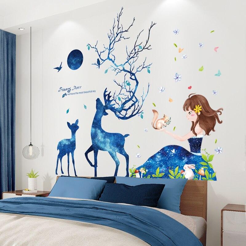 Купить [shijuekongjian] мультяшные наклейки на стену для девочек сделай