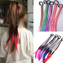 Kids Wig Hair-Accessories Hair-Band Headdress Braid Elastic Child New Gift Rubber Twist