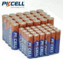 (40 חתיכה משולבת חבילה) PKCELL 20PC AAA LR03 AM4 E92 20PC LR6 AM3 E91 MN1500 AA אלקליין סוללה 1.5V עבור אלקטרוני מדחום