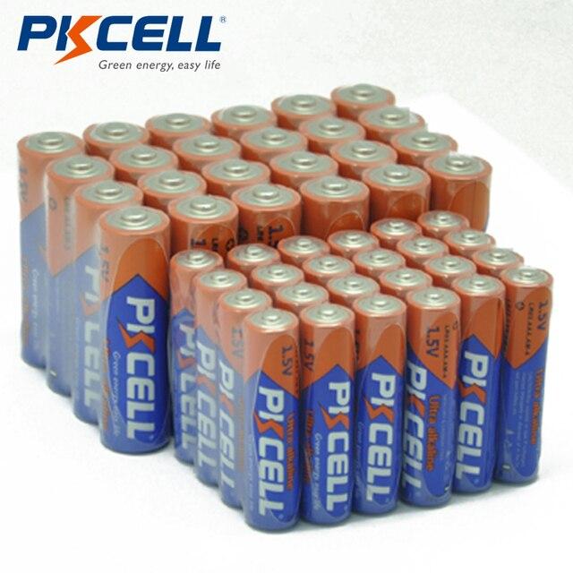 (40 ピースコンボパック) pkcell 20 pc aaa LR03 AM4 E92 20 pc LR6 AM3 E91 MN1500 aa アルカリ電池 1.5 v 電子温度計