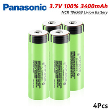 Panasonic 1/2/4/6/8/10x Rechargeable 3400mah NCR 18650 Li Ion Battery 3.7V 20A NCR18650B Lithium Bateria For Mini Fan Torch