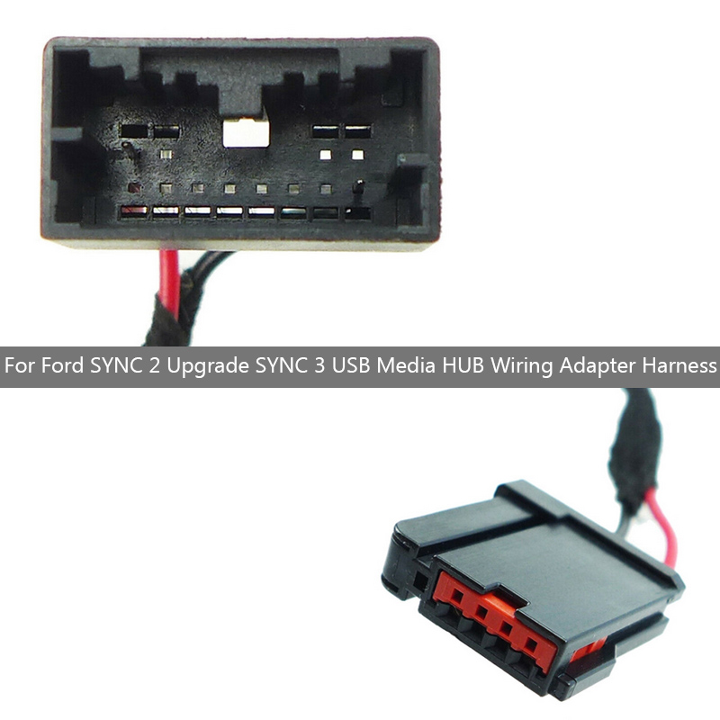 Gen 2a Wiring Adapter For Ford SYNC <font><b>2</b></font> Upgrade SYNC <font><b>3</b></font> <font><b>USB</b></font> Media HUB Wiring Harness image